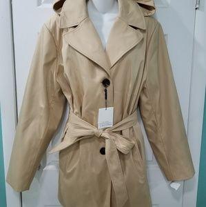 Calvin Klein Waterproof Hooded Khaki Raincoat 2XL